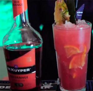 Red Orange Cocktail. Коктейли с ликером red orange