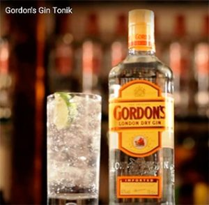 Коктейль Gordon's Gin-tonic. Коктейли с джином